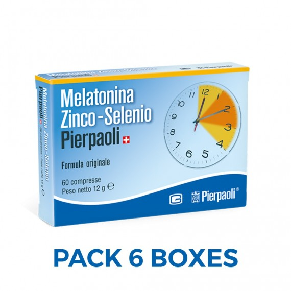 Melatonina Zinc-Selenium Pierpaoli 1mg - 6Boxes