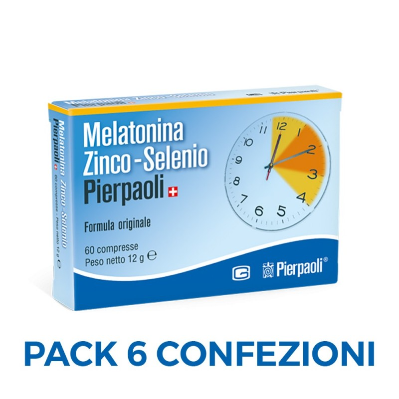 Melatonina Zinco-Selenio Pierpaoli 1mg - 60 cpr - X06
