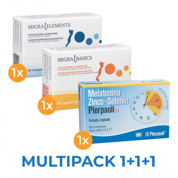 Melatonin Pierpaoli, MigraElements, MigraBasics - Genuine and natural products.