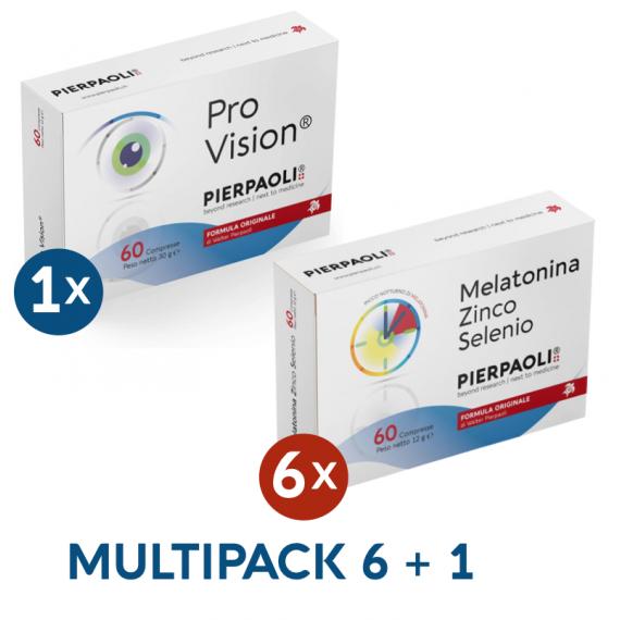 Melatonin Zinc-Selenium Pierpaoli 6Boxes + ProVision® Pierpaoli 1 Box