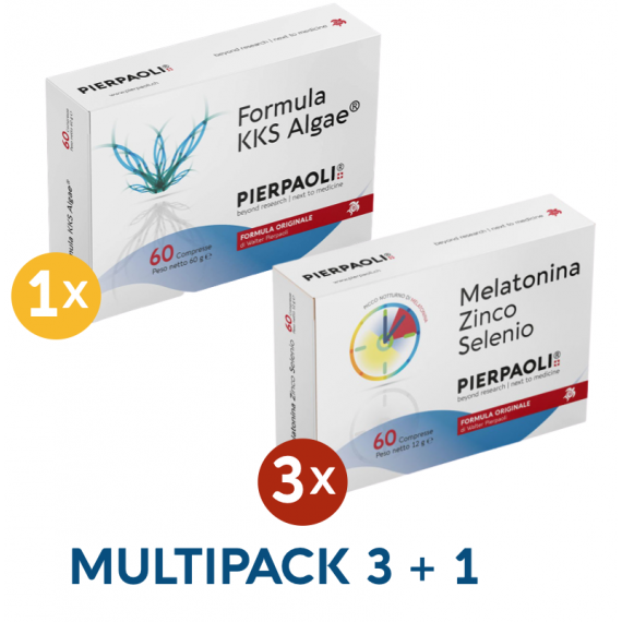 1 Formula KKS ALGA Pierpaoli +  3 Melatonina Zn-Se Dr.Pierpaoli